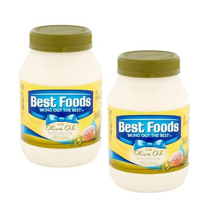 Best Foods Mayonnaise Dressing with Olive Oil 2 Pack (425g Per Jar)