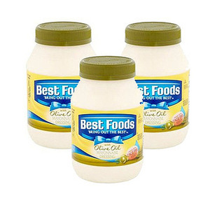 Best Foods Mayonnaise Dressing with Olive Oil 3 Pack (425g Per Jar)