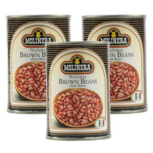 Molinera Natural Brown Beans 3 Pack (400g Per Can)