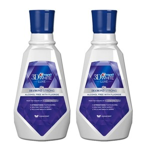 Crest 3D Luxe Diamond Strong Mouthwash 2 Pack (946ml per bottle)