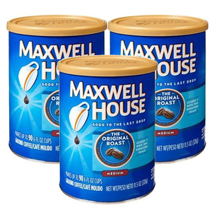 Maxwell House Original Roast Ground Coffee 3 Pack (311g Per Can)