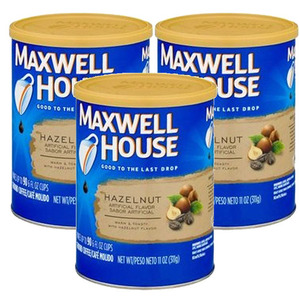 Maxwell House Hazelnut Ground Coffee 3 Pack (311g Per Can)