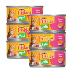 Purina Friskies Pate Salmon Dinner 6 Pack (156g per can)