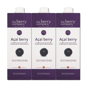 The Berry Company Acai Berry Fruit Juice 3 Pack (1L per Pack)