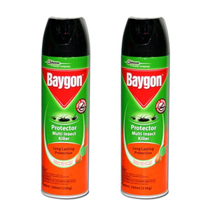 Baygon Protector Multi Insect Killer 2 Pack (500ml per pack)