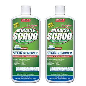 Clean-X Miracle Scrub Surface Cleanser 2 Pack (473ml per pack)