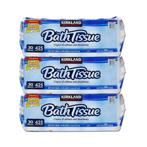 Kirkland Signature Bath Tissue 425 Sheets 2 Ply 3 Pack (30 Rolls per pack)