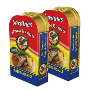Ayam Brand Fried Sardines in Teriyaki Sauce 2 Pack (120g per can)