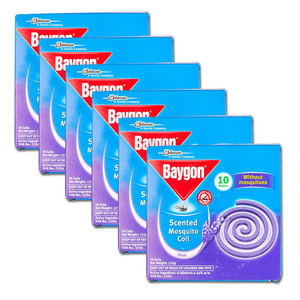 Baygon Floral Scented Mosquito Coil 6 Pack (10's per box)