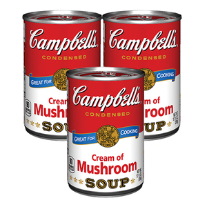 Campbells Condensed Soup Cream of Mushroom 3 Pack (295g per can)