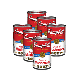 Campbells Condensed Soup Cream of Mushroom 6 Pack (295g per can)