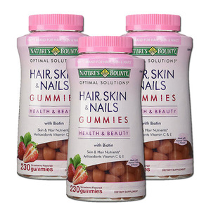 Nature's Bounty Hair, Skin & Nails Gummies 3 Pack (230's per pack)