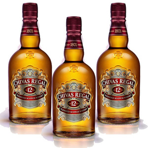 Chivas Regal Aged 12 Years Blended Scotch Whisky 3 Pack (1L per Bottle)