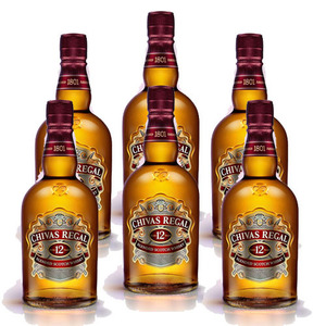 Chivas Regal Aged 12 Years Blended Scotch Whisky 6 Pack (1L per Bottle)