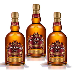 Chivas Regal Extra Blended Scotch Whisky with Glass 3 Pack (700ml per Bottle)