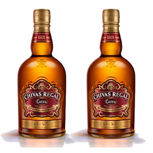 Chivas Regal Extra Blended Scotch Whisky with Glass 2 Pack (700ml per Bottle)