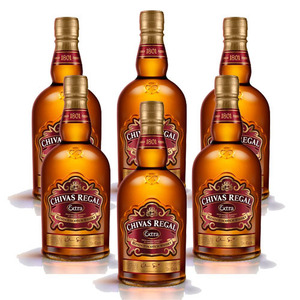 Chivas Regal Extra Blended Scotch Whisky with Glass 6 Pack (700ml per Bottle)