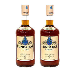 Fundador Light Brandy 2 Pack (1L per Bottle)
