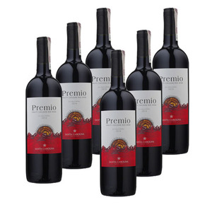 Santa Carolina Premio Red Wine 6 Pack (750ml per Bottle)
