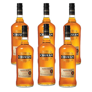 Cruzan Aged Dark Rum 6 Pack (750ml per Bottle)