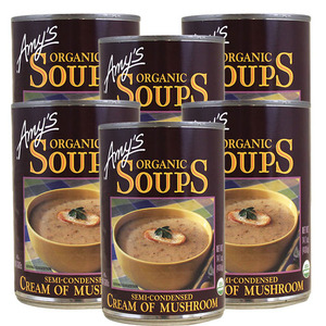 Amy's Organic Soups Cream of Mushroom 6 Pack (400g per Can)