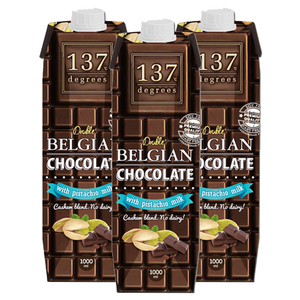 137 Degrees Double Belgian Chocolate with Pistachio 3 Pack (1L per pack)