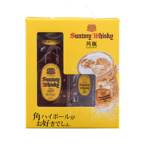 Suntory Kakubin Yellow Label Whisky with Mug 3 Pack (700ml per Bottle)
