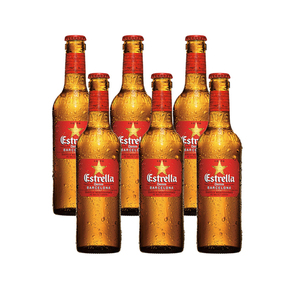 Estrella Damm Lager Beer Bottle 6x330ml