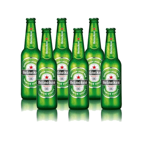Heineken Dutch Pale Lager Beer Bottle 6x330ml