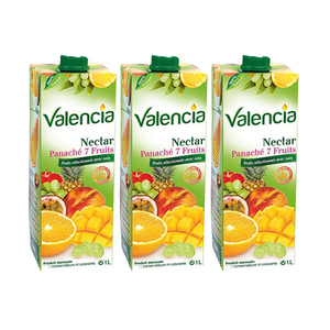 Valencia Nectar Variegated 7 Fruits 3 Pack (1L per pack)