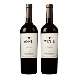 Wente Sandstone Merlot 2 Pack (750ml per Bottle)