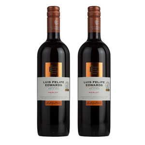 Luis Felipe Edwards Classic Merlot Wine 2017 2 Pack (750ml per Bottle)