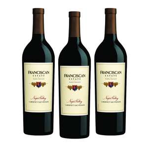 Franciscan Estate Cabernet Sauvignon 2014 3 Pack (750ml per Bottle)