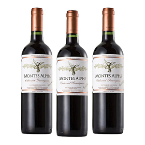 Montes Alpha Cabernet Sauvignon 3 Pack (750ml per Bottle)