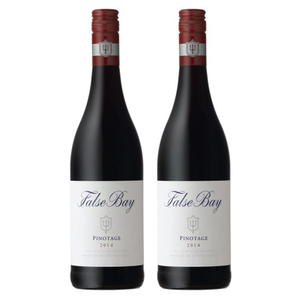 False Bay Pinotage Wine 2014 2 Pack (750ml per Bottle)