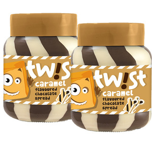 Twist Caramel Flavoured Chocolate Spread 2 Pack (400g per Pack)