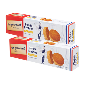 Un Gourmand A Paris Palets Bretons Butter Biscuits 2 Pack (125g per pack)