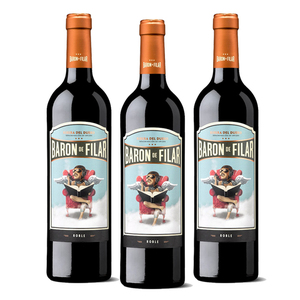 Baron de Filar Roble Wine 3 Pack (750ml per Bottle)