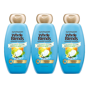 Garnier Whole Blends Haircare Hydrating Shampoo 3 Pack (650ml per pack)