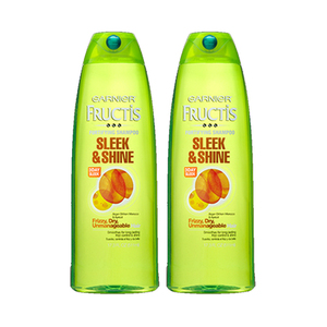 Garnier Fructis Sleek And Shine Shampoo 2 Pack (751.1ml per pack)