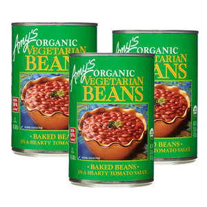 Amy's Organic Vegetarian Beans 3 Pack (425g per Can)