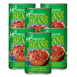 Amy's Organic Vegetarian Beans 6 Pack (425g per Can)
