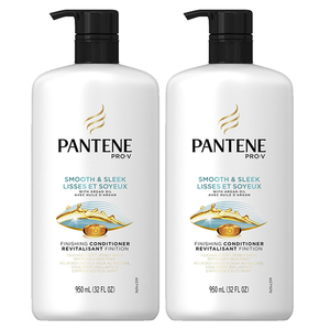 Pantene Smooth And Sleek Conditioner 2 Pack (950ml per pack)