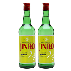 Jinro 24 Soju 2 Pack (700ml per Bottle)
