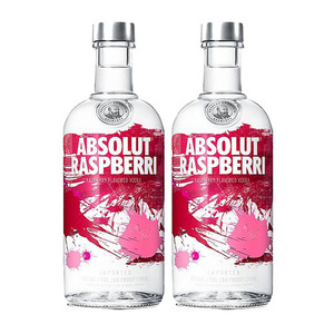 Absolut Raspberri Vodka 2 Pack (1L per Bottle)