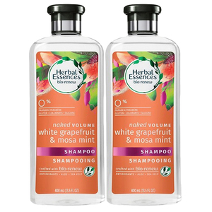 Herbal Essences Naked Volume Shampoo White Grapefruit & Mosa Mint 2 Pack (400ml per pack)