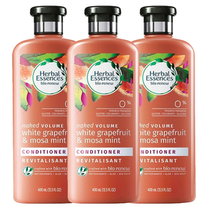 Herbal Essences Naked Volume Conditioner White Grapefruit & Mosa Mint 3 Pack (400ml per pack)
