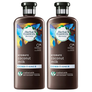 Herbal Essences Hydrating Coconut Milk Conditioner 2 Pack (400ml per pack)