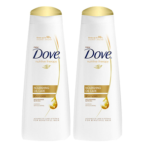 Dove Nourishing Oil Care Shampoo 2 Pack (340ml per pack)