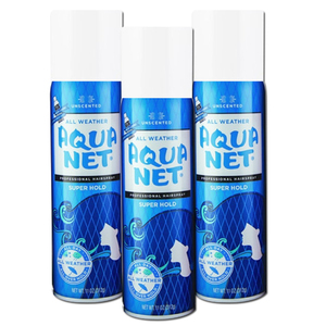 Unscented Aqua Net Professional Hairspray Super Hold 3 Pack (325ml per pack)